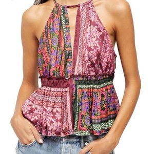 NWT Free People Bellini Patchwork Tank Top XL
